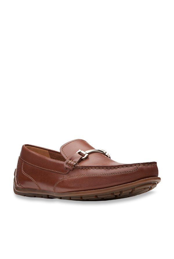 fad9a618d Buy Clarks Benero Brace Tan Loafers for Men at Best Price   Tata CLiQ