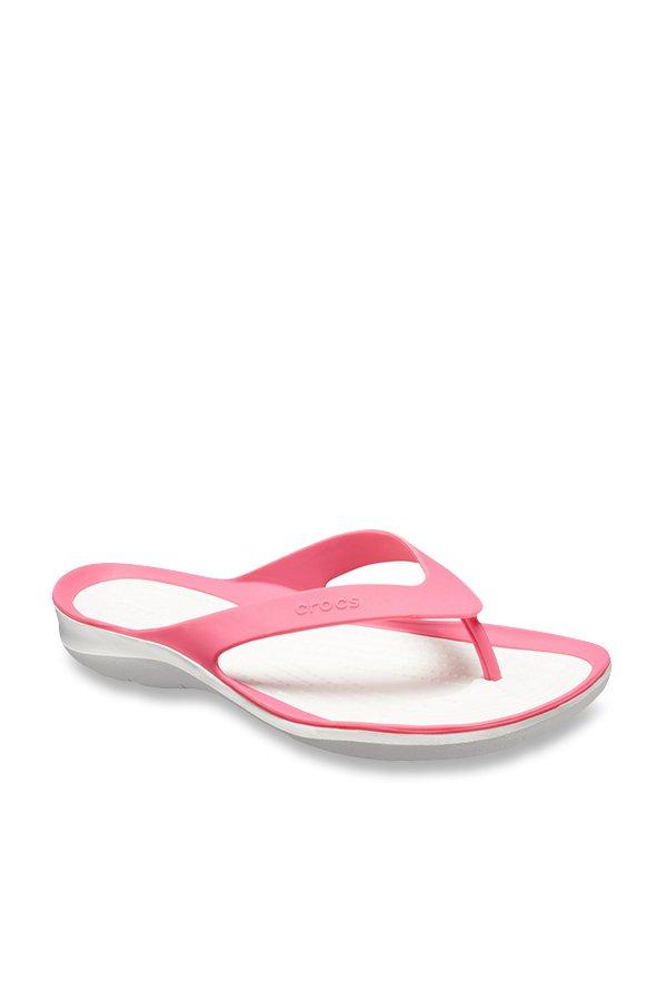 9eca47d681333 Buy Crocs Kadee II Graphic Paradise Pink Flip Flops for Women at Best Price    Tata CLiQ