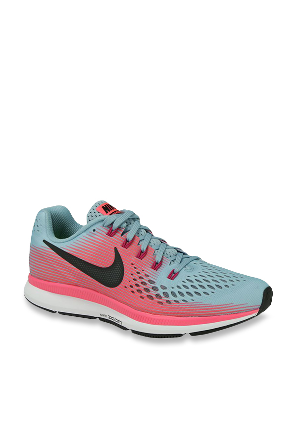 0aa6f341b77 Buy Nike Air Zoom Pegasus 34 Mica Blue   Red Running Shoes for ...
