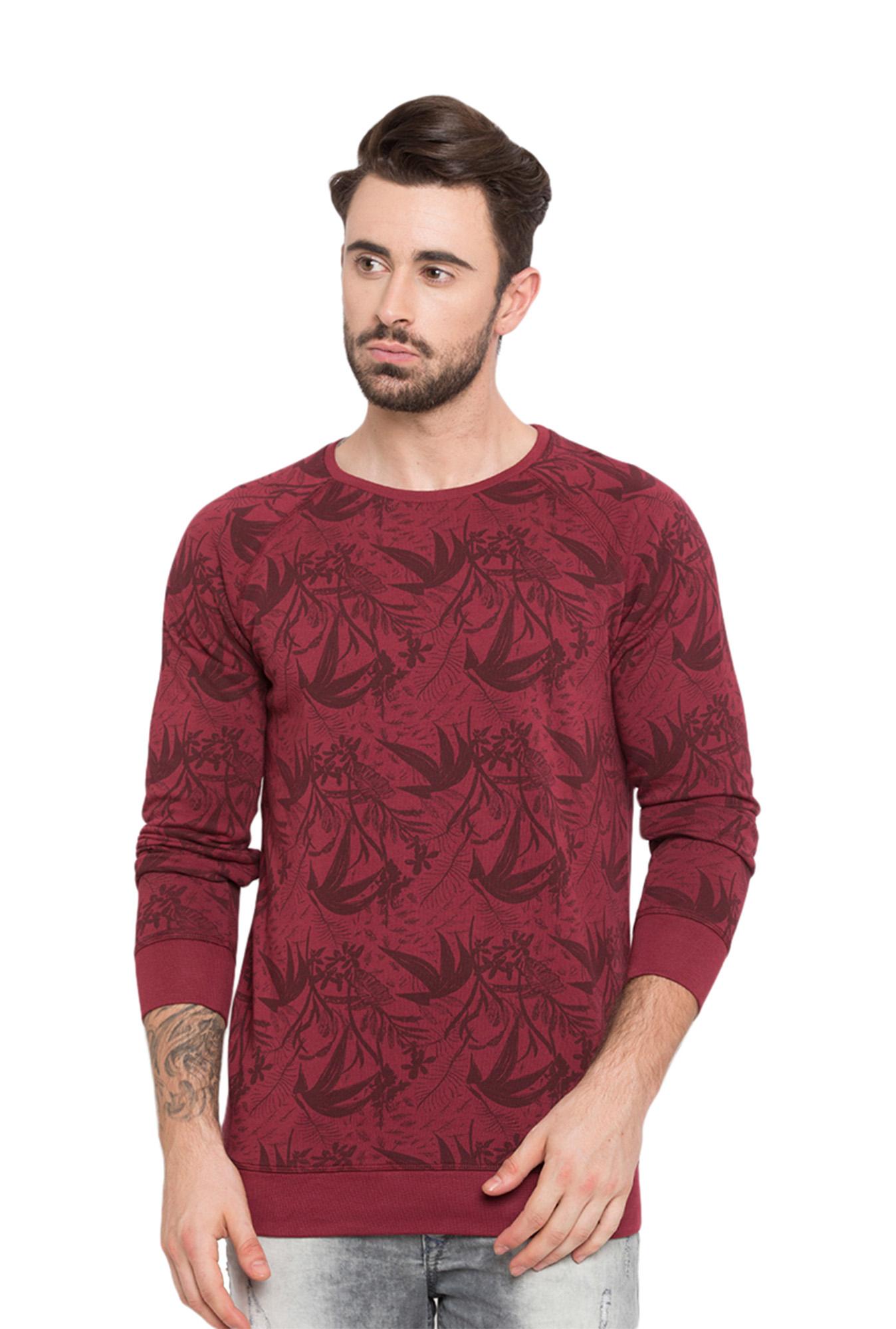 8b14acb0 Buy Spykar Wine Printed Raglan Sleeves T-Shirt for Men Online @ Tata CLiQ