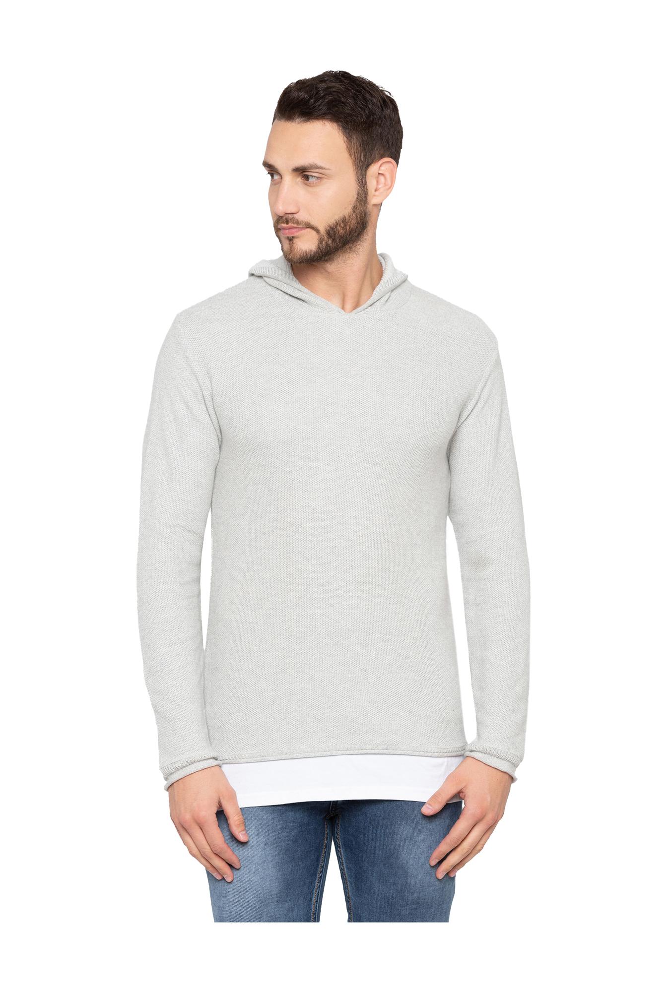 557444f4630 Buy Globus Grey Full Sleeves Sweater for Men Online   Tata CLiQ