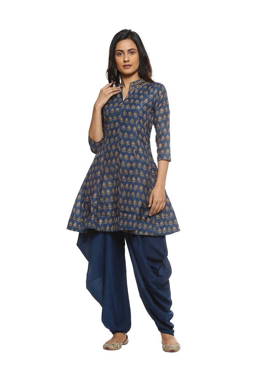 48295bc7a8 Buy Soch Navy Printed Kurti Patiala Set for Women Online @ Tata CLiQ