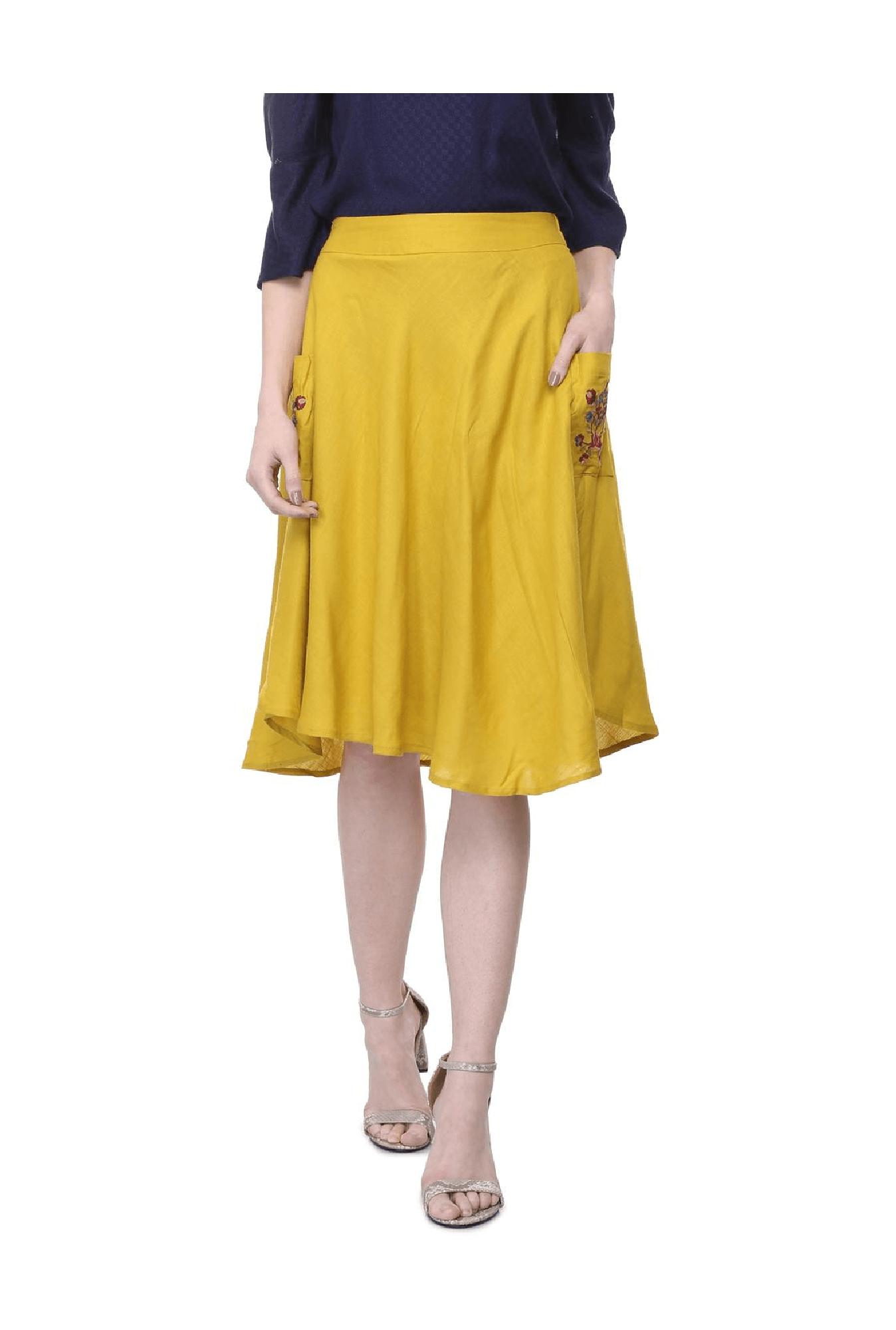 08e2317ce Knee Length Skirt Online India – DACC