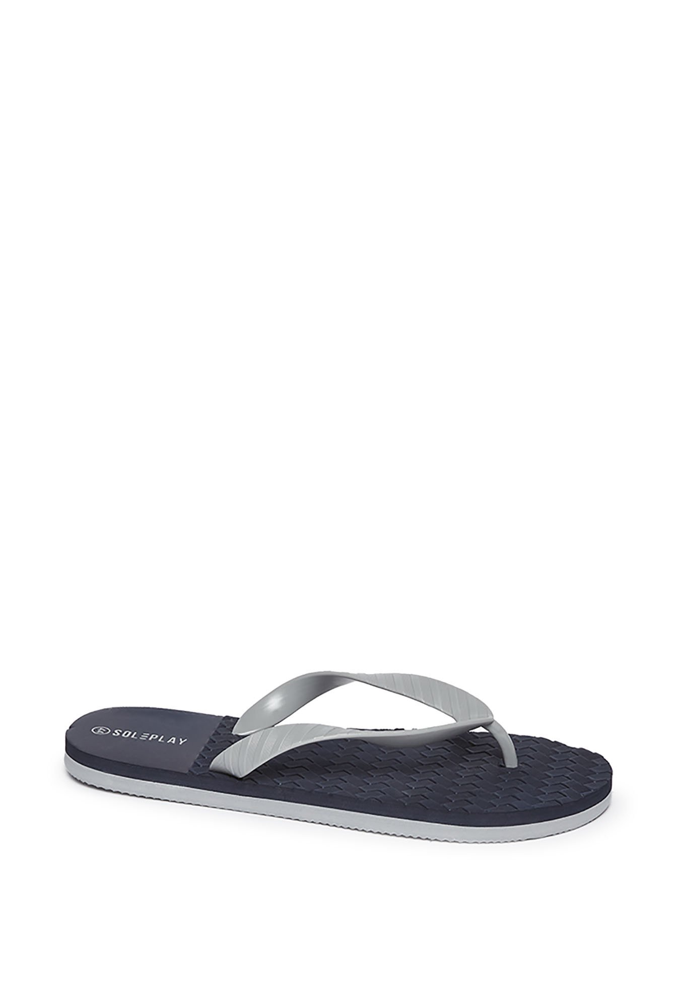 6246ab9aade Buy SOLEPLAY by Westside Navy Textured Flip-Flops For Men Online ...