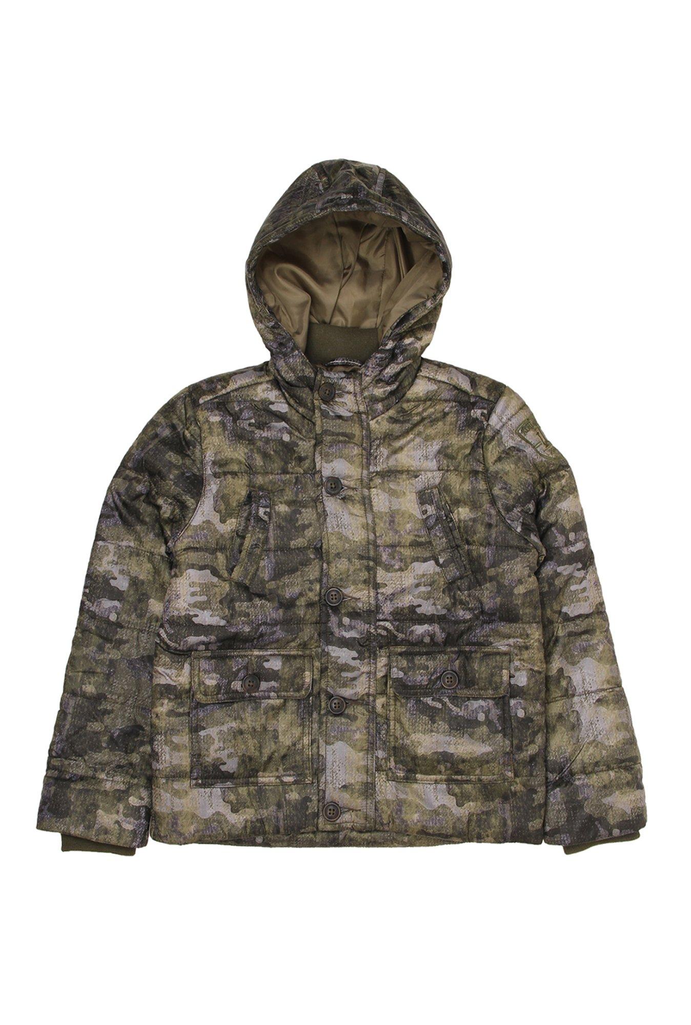 686305666516b Buy Indian Terrain Kids Olive Camouflage Hood Jacket for Boys Clothing  Online @ Tata CLiQ