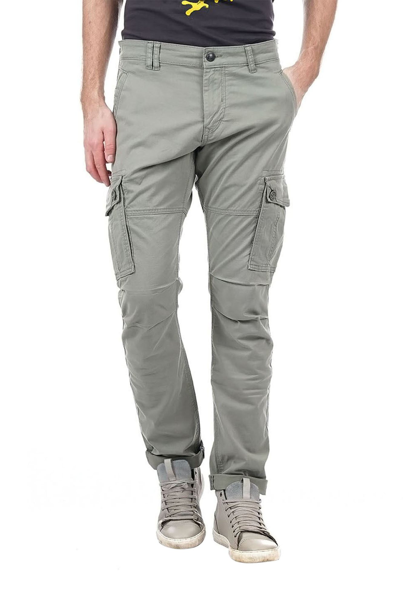 6e5457167 Buy Ed Hardy Grey Mid Rise Cargo Pants for Men Online @ Tata CLiQ