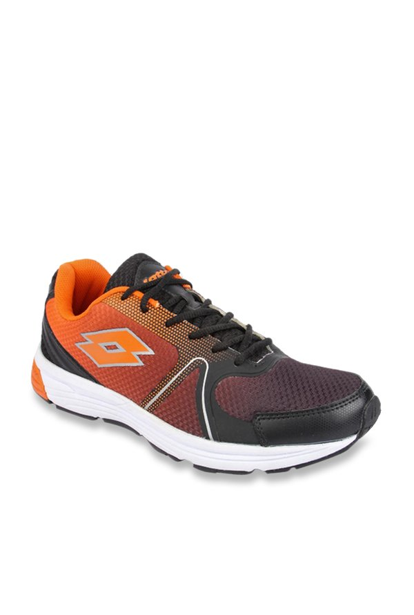 Lotto Ventura 2 0 Black Orange Running Shoes From Lotto At Best Prices On Tata Cliq