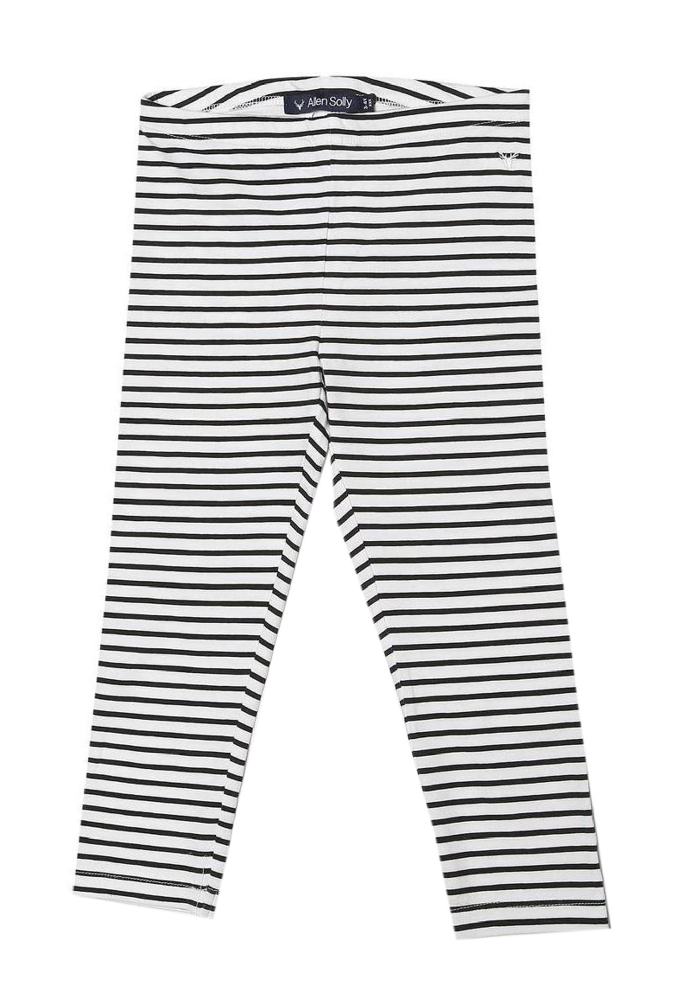 59a322e3627aa Buy Allen Solly Junior White & Black Striped Leggings for Girls Clothing  Online @ Tata CLiQ
