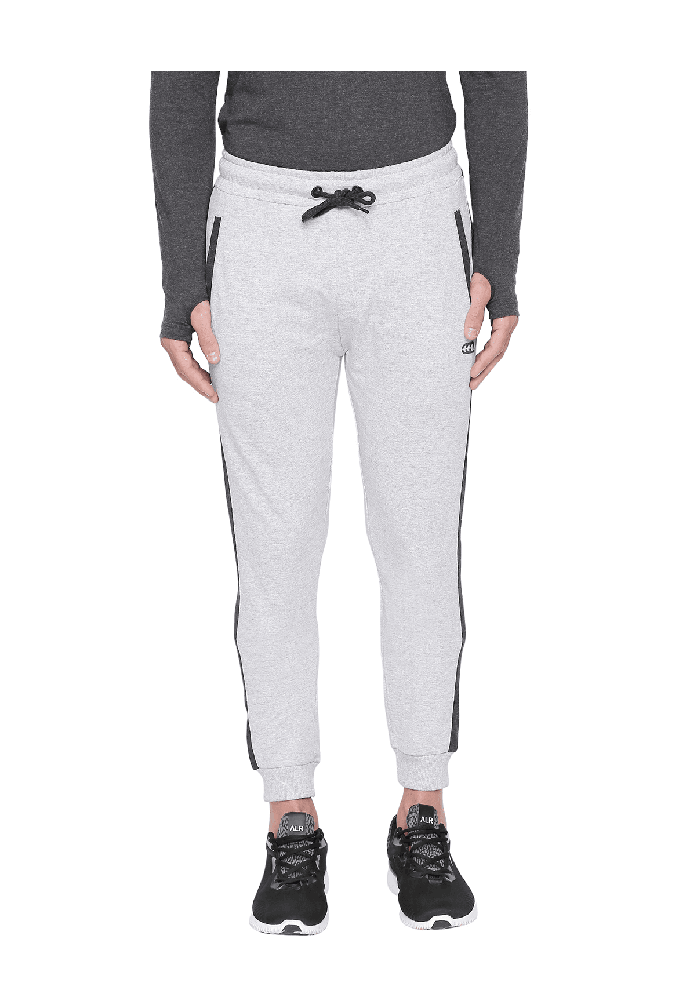 dece5a5534 Buy Ajile by Pantaloons Grey Melange Tapered Fit Cotton Trackpants ...