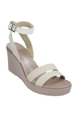 efaedd88492 Crocs Leigh Oatmeal   Mushroom Ankle Strap Sandals
