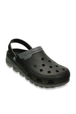 509da0cab627 Crocs Duet Max Black   Grey Clogs