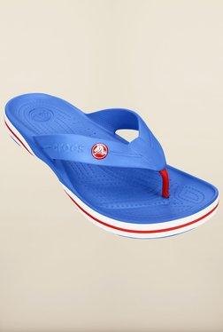 Crocs Crocband-X Varsity Blue & White Flip Flops