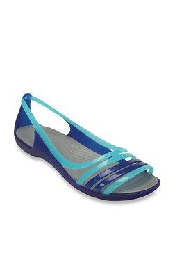 794b2de720da Crocs Isabella Huarache Blue Sandals for women - Get stylish shoes ...
