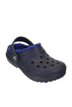 8021c529e Kids Classic Navy   Cerulean Blue Clogs