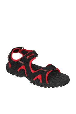 1362fc2742d135 Reebok Reebel Black   Red Floater Sandals