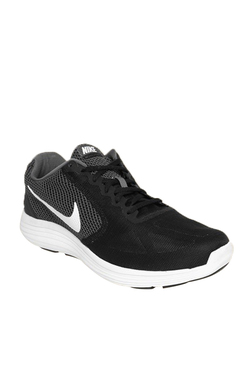 big sale 7b10c 00539 Nike Revolution 3 Black Running Shoes