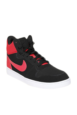6fdb14f9ceec3 Nike Court Borough Mid Black Sneakers for Men online in India at ...