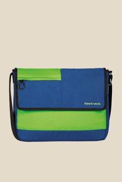 80eccf4e64f1ce Fastrack Blue and Green Polyester Messenger Bag