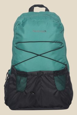 Fastrack Green Polyester Textured Backpack