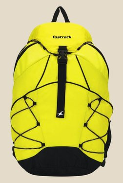 04eb69f17f Fastrack Yellow Solid Polyester Backpack
