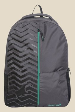 Fastrack Grey Polyester Backpack