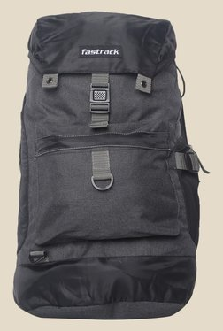 Fastrack Grey Solid Polyester Backpack 0b9de483df012