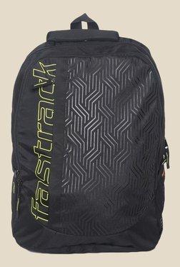 Fastrack Black Polyester Textured Backpack