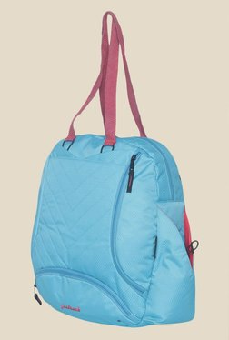 Fastrack Blue Polyester Textured Backpack e048ad72b5467