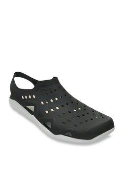 fa494b9ff721 Crocs Black   Pearl White Sling Back Sandals