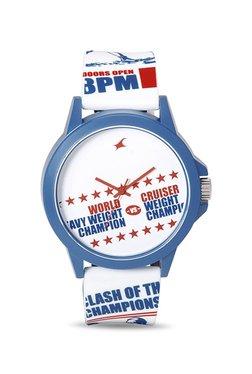 Fastrack 38024PP18J Tees EDM Analog Unisex Watch image