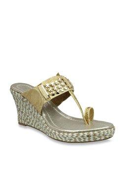 Inc.5 Golden Toe Ring Espadrille Wedges