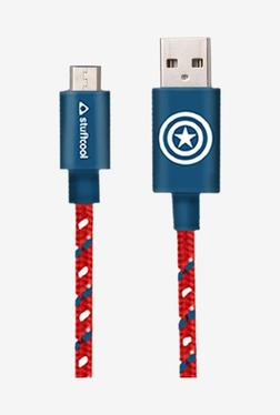 Stuffcool MARVEL CAPTAIN 24Amp Sync Charge 1M USB Cable