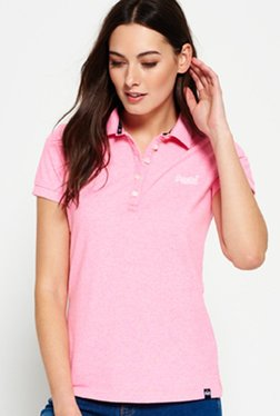 8ab7ca06f063f6 Superdry Pink Regular Fit Polo T-Shirt