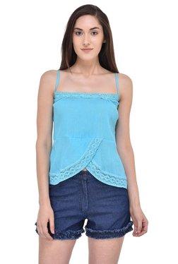 Mayra Blue Lace Cami Top