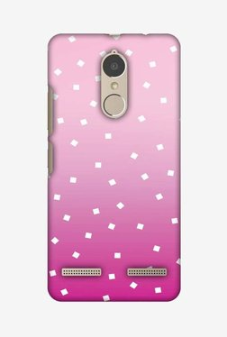 Amzer Pink Bits Hard Shell Designer Case For Lenovo K6/K6 Power