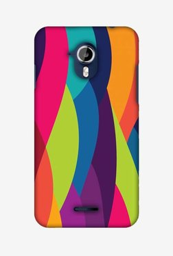 Amzer Bold Waves Hard Shell Designer Case For Micromax Canvas Magnus