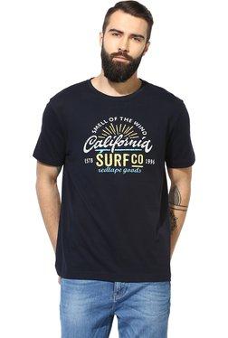 Red Tape Navy Regular Fit Printed T-Shirt
