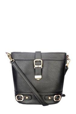 Satya Paul Black Solid Sling Bag