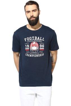 Red Tape Navy Regular Fit T-Shirt