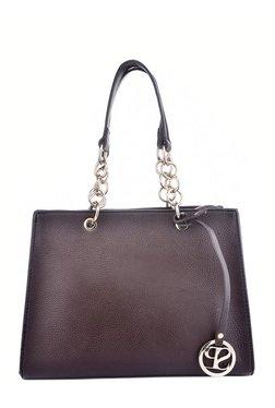 Satya Paul Dark Brown Solid Shoulder Bag