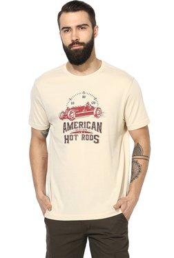 Red Tape Beige Regular Fit T-Shirt