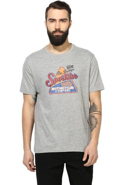 Red Tape Light Grey Half Sleeves T-Shirt