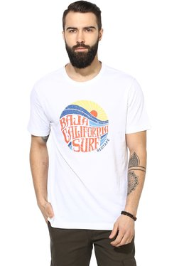 Red Tape White Cotton T-Shirt