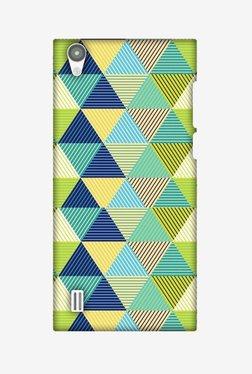 Amzer Triangles & Triangles Hard Shell Designer Case For Vivo Y15/Y15S