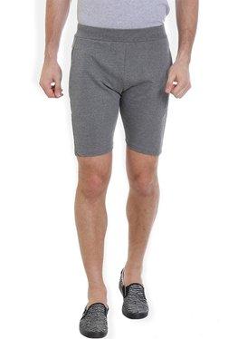ROCX Grey Cotton Mid Rise Shorts