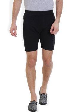 ROCX Black Cotton Mid Rise Shorts