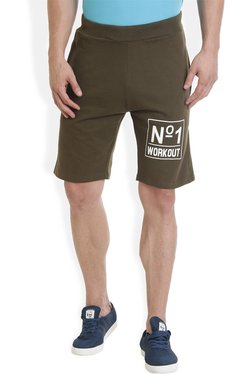 ROCX Olive Slim Fit Shorts