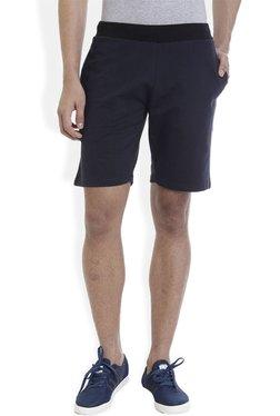 ROCX Navy Cotton Mid Rise Shorts