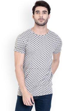 ROCX Grey Short Sleeves Cotton T-Shirt
