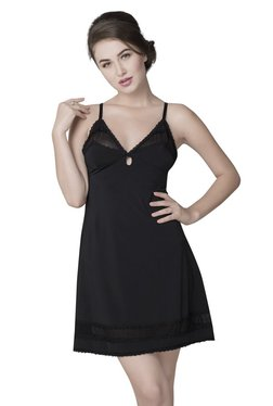 Be Mine By Lingerie Shop Black Lace Night Dress